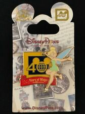 TinkerBell Pin - Disney Parks 40th Anniversary Celebrating 40 Years of Magic