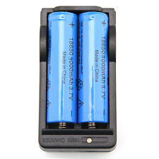 2x  3000mAh 18650 Battery 3.7v Li-ion Rechargeable Batteries + 18650 Charger