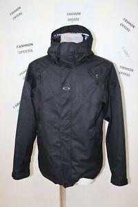 OAKLEY Men`s Regular Fit Hooded Breathable Skiing Snowboarding Jacket sz Large