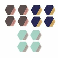 Geome Dipped Hexagonal Coasters, Geometric design, Leather effect material
