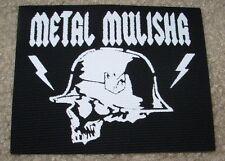 "METAL MULISHA Skull Canvas Helmet Skate Patch 4.5"" motocross skateboard sew on"
