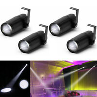4PCS Mini LED Stage Lighting Spotlight-Beam Pinspot Light DJ Disco Party Wedding