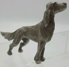 VTG Rawcliffe Pewter by Artist P. Davis 1975  Dog Setter - Irish Gordon English