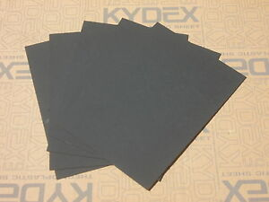 5 Pack 1 mm A4 KYDEX T Sheet 297 mm X 210 mm P-1 Haircell Black, Holster Sheath