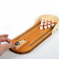Mini Bowling Game Set Indoor Wooden Bowling Game Classic Tabletop Bowling Toy