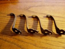 4- single Coat Hooks vintage 1850's school farmhouse cast iron