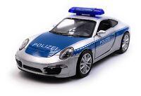 Porsche 911 Carrera Polizei Modellauto Auto Maßstab 1:34 (lizensiert)