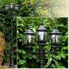 Kandelaber Außenstehlampe Wege Lampen Garten Weg Aussen Steh Leuchten schwarz