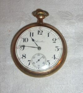 HAMILTON VINTAGE GOLD PLATED POCKET WATCH NON WORKING