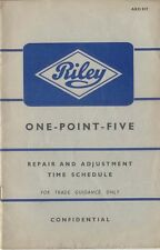 Riley One Point Five Schedule of Repair Times 1957 AKD 817