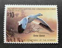 WTDstamps - #RW55 1988 - US Federal Duck Stamp - Mint OG NH  **ARTIST SIGNED**-