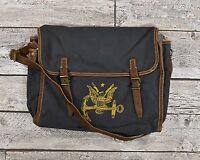 Ralph Lauren RRL Distressed Canvas Leather Nautical Anchor Messenger Bag New