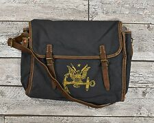 Ralph Lauren RRL Distressed Canvas Leather Nautical Anchor Messenger Bag New