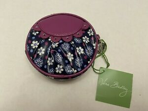Vera Bradley Frill Peek-a Boo Coin Pouch Bag Boysenberry Purple Blue NWT