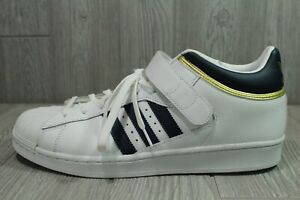 66 Adidas Originals Pro Shell Shoes Navy White Gold Mens Size 12 BY4383