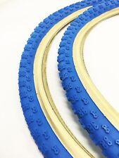 Old School bmx kenda Skin wall BLUE Comp 3 Tyres 24 X 1.75 Pair BMX Tires