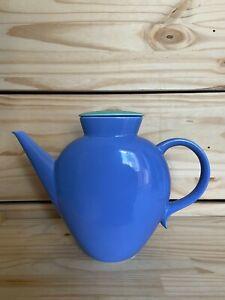 Vintage Rare Lindt Stymeist COLORWAYS Blue Green Oval Teapot 5428686 - Excellent