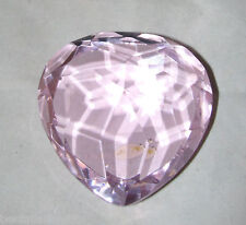 New Beautiful Pink Fine Crystal In Heart Cut Diamond Paperweight