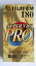 FUJIFILM PRO SE-180 S-VHS PRO BLANK VHS TAPE 180 MINUTES @ SP RECORDING