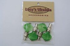 Lucy's Ukulele Vintage Style Color Friction Pegs Tuners Green Buttons