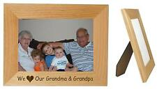 We Love Our Grandma & Grandpa Wood 5 x 7  Frame Horizontal - Can Be Personalized