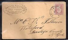 1860s Portsmouth, Ohio - Toy Store Stencil Advertising Cover - To Waterford, NY
