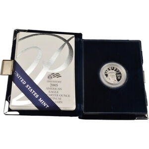 2005 W American Platinum Eagle Proof 1/4 oz $25 in OGP