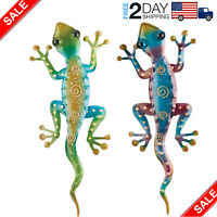 Details about  Metal Gecko Wall Art Southwest Desert Decor Lizard Yard Deck Door