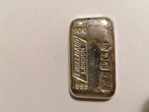 Rare Engelhard London 100g Silver Bar Sheffield