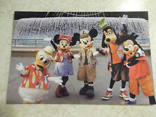 Disney's California Adventure Postcard Mickey Minnie Donald Goofy & Max Unused