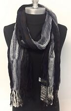 NEW Men Scarf Long Crinkle Wrap Shawl Stole Style Fashion Cozy Navy USA Seller!