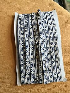 QUALITY BLUE EMBROIDERED COTTON BRAID