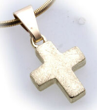 Cross Pendant real gold 585 Ice matte cheap 14 Quality Yellow gold Unisex