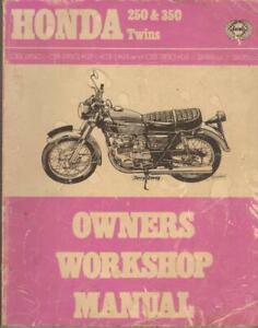 HONDA CB250 & CB350 K,K0,K2,K3,K4 HAYNES WORKSHOP MANUAL 1968-1973