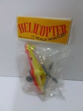 Vintage Dime Store Helicopter Hong Kong early 1960 whistles in Package