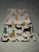 Cotton Muslin Swaddle Baby Blankets 1 Little Unicorn, the other untagged. EUC