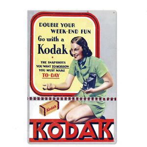 "KODAK FILM 8""x12"" Metal Tin Sign Pub Bar Home Vintage Retro Poster Cafe ART"