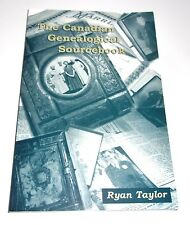 Canadian Genealogical Sourcebook PB Ryan Taylor 2004 Library Reference