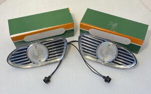 1958 1959 GMC Truck Park Light Lamp Complete Lens Bezel Housing Wires All Models