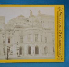 1860/70s France Stereoview Photo L'Opera Paris Vues Pour Stereoscope PL