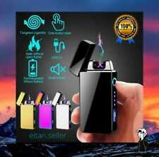 Windproof USB Touch Dual Arc Electric Lighters Pulse Plasma Lighter Free Ship
