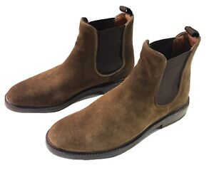 FRYE MENS BROWN SUEDE CHELSEA BOOTS With VIBRAM SOLES SZ. 9