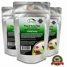 Pau D'Arco Tea 3-Pack 100% Pure (90 Premium Bags) All-Natural Immune Booster