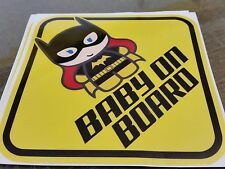 BATGIRL Baby Sign Chibi BABY ON BOARD WINDOW DECAL SIGN STICKER WARNING VINYL