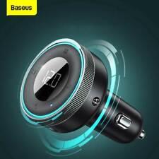 Bluetooth 5.0 FM Transmitter Auto Radio MP3 Player USB Ladegerät Adapter AUX KFZ
