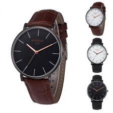 Men's Fashion Casual Watches PU Leather Band Quartz Analog Belt Wrist Watches