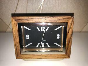 QUALITY DAVID LINLEY  Wooden Swiss Made QUARTZ Desk Clock
