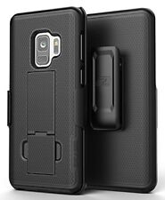 Samsung Galaxy S9 Belt Clip Holster Case, Black DuraClip Shell Combo - Encased