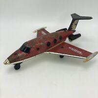 Vintage 1979 TONKA Learjet Airplane Metal & Plastic Made In Hong Kong As Is