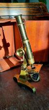 Vintage ~ c1900 ~ Brass Microscope